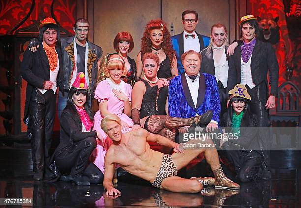 Cast members including Amy Lehpamer as Janet Stephen Mahy as Brad Craig McLachlan as Frank N Furter Bert Newton as the Narrator Kristian Lavercombe...