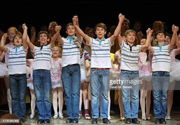 """Cast members including Brodie Donougher, Thomas Hazelby, Ollie Jochim and Bradley Perret attend as """"Billy Elliot The Musical"""" celebrates its 10th..."""