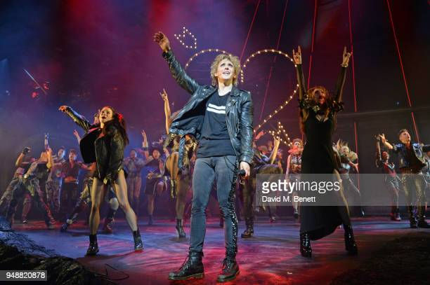 Cast members including Christina Bennington Andrew Polec and Sharon Sexton bow at the curtain call during the Gala Night performance of 'Bat Out Of...