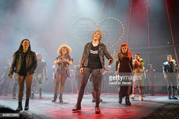 Cast members including Christina Bennington Danielle Steers Andrew Polec Alex ThomasSmith and Sharon Sexton bow at the curtain call during the Gala...