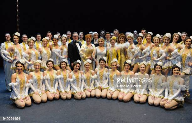 Cast members including Lulu Tom Lister Clare Halse and Ashley Day celebrate backstage at the 42nd Street 1st Anniversary Gala Performance featuring...