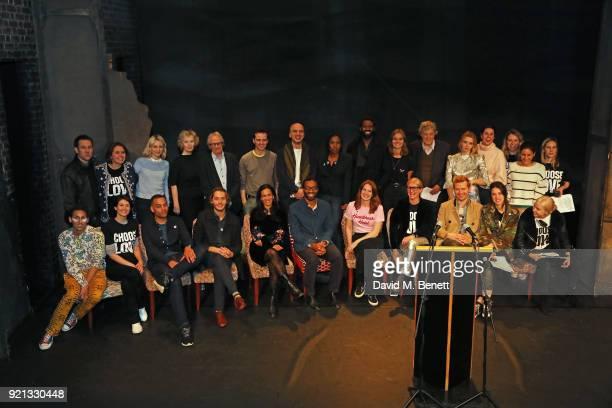 Cast members including Tobias Menzies, Emily Berrington, Lindsay Duncan, Ken Loach, Andrew Scott, Jade Anouka, Tom Stoppard, Greta Bellamacina, Amrou...