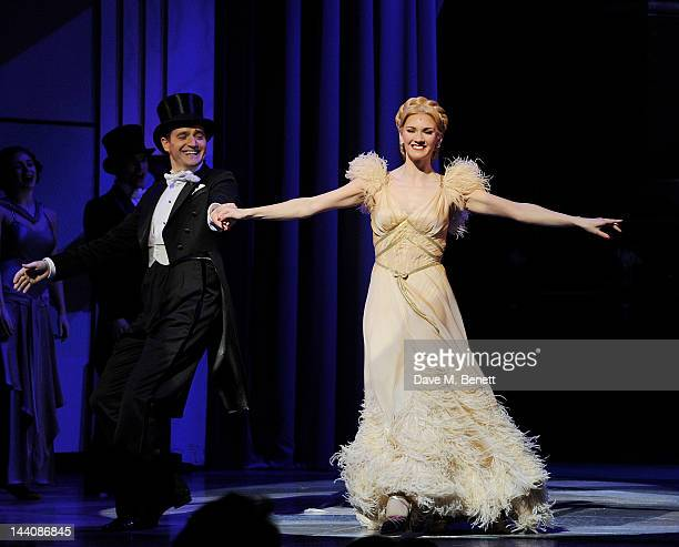 Cast members including Tom Chambers and Summer Strallen perform during the press night performance of 'Top Hat' at the Aldwych Theatre on May 9 2012...