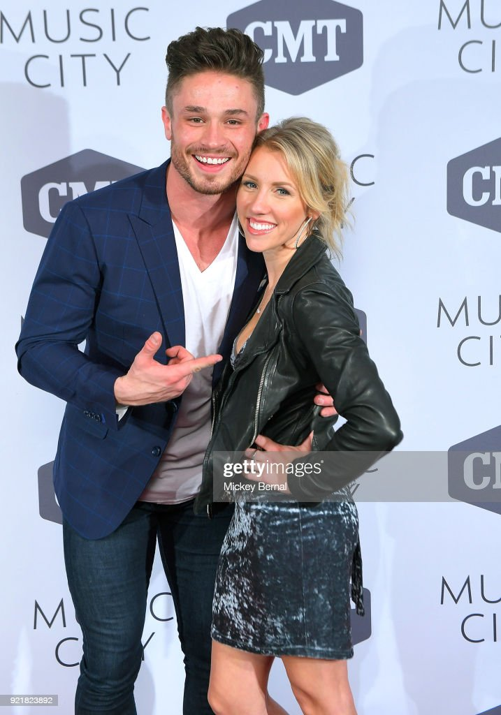 Cast members Jackson Boyd and Jessica Mack attend CMT's 'Music CIty' Premiere Party at The Back Corner on February 20, 2018 in Nashville, Tennessee.