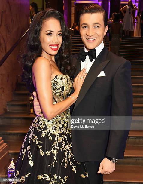 Cast members Jade Ewen and Dean JohnWilson attend the press night after party for Disney's 'Aladdin' at The National Gallery on June 15 2016 in...