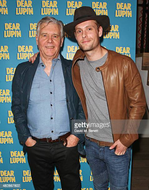Cast members James Fox and Jack Fox attend an after party following the press night performance of Dear Lupin at the Ham Yard Hotel on August 3 2015...