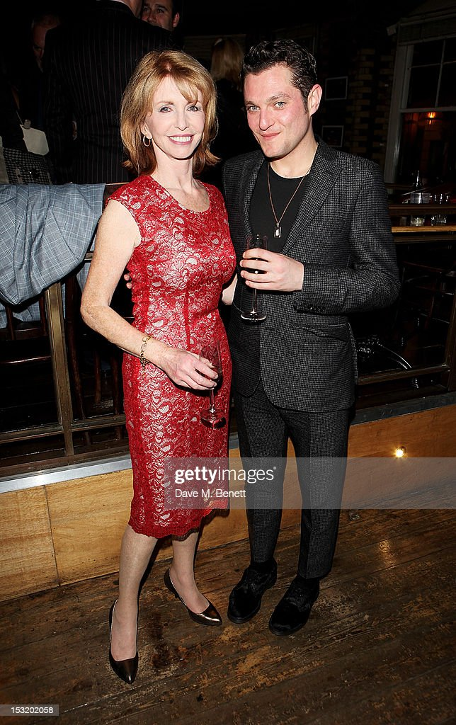 Cast members Jane Asher (L) and Mathew Horne attend an after party following the press night performance of 'Charley's Aunt' at Menier Chocolate Factory on October 1, 2012 in London, England.