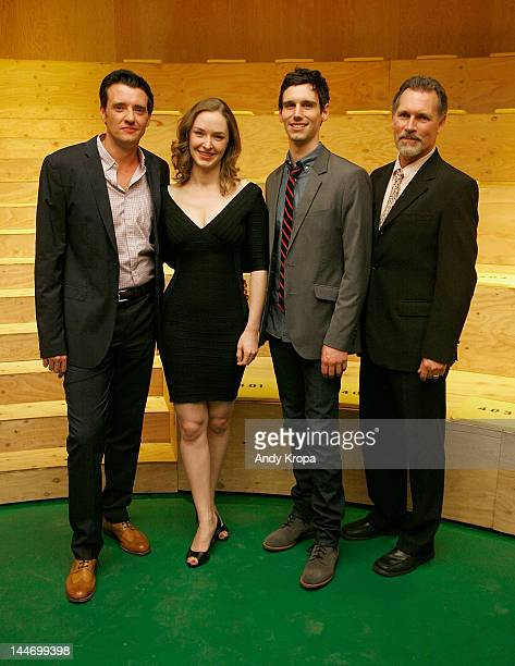 Cast members Jason Butler Harner Amanda Quaid Cory Michael Smith and Cotter Smith attend Cock Opening Night at The Duke on May 17 2012 in New York...