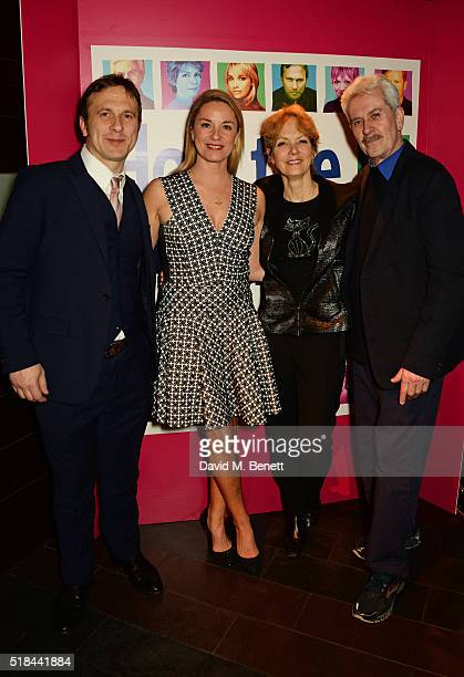 """Cast members Jason Merrells, Tamzin Outhwaite, Jenny Seagrove and Nicholas Le Prevost attend the press night after party of """"How The Other Half..."""