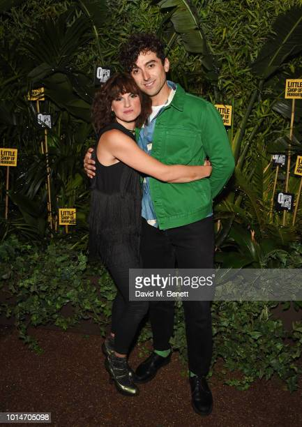 Cast members Jemima Rooper and Marc Antolin attend the press night after party for Little Shop Of Horrors at Regent's Park Open Air Theatre on August...