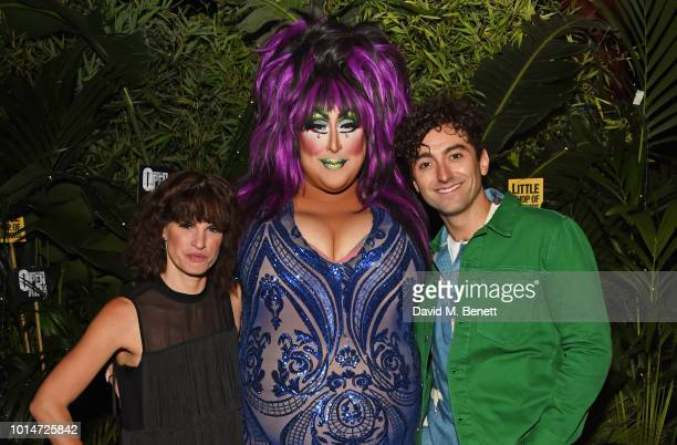 Cast members Jemima Rooper Vicky Vox and Marc Antolin attend the press night after party for Little Shop Of Horrors at Regent's Park Open Air Theatre...