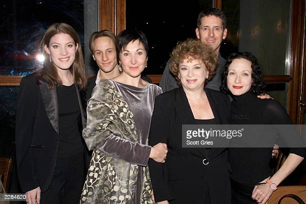 Cast members Jennifer Carpenter Kevin Isola Robin Bartlett Marcia Jean Kurtz Jeff Allin and Bebe Neuwirth at the opening night party for Lincoln...