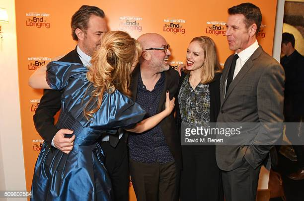 Cast members Jennifer Mudge Matthew Perry director Lindsay Posner Christina Cole and Lloyd Owen attend an after party celebrating the World Premiere...