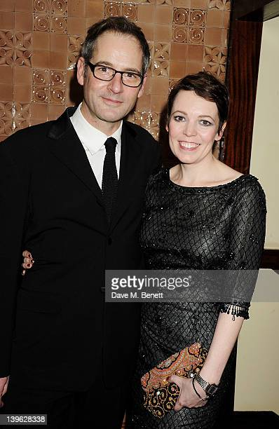 Cast members Jeremy Northam and Olivia Colman attend an after party celebrating the Gala Performance of Noel Coward's 'Hay Fever' at the Royal...