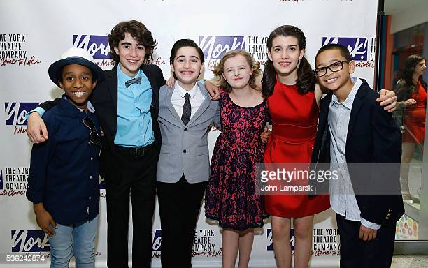Jeremy T Villas Aidan Gemme Joshua Colley Milly Shapiro Mavis Simpson Ernst and Gregory Diaz attend 'You're A Good Man Charlie Brown' opening night...