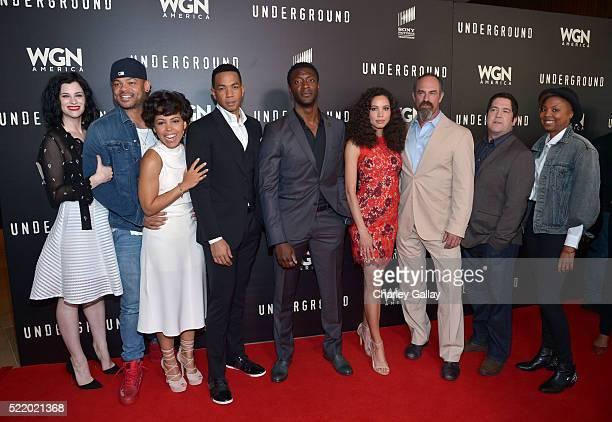 Cast members Jessica de Gouw Anthony Hemingway Amirah Vann Alano Miller Aldis Hodge Jurnee SmollettBell Christopher Meloni and creators/executive...