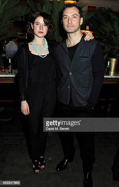 Cast members Jessie Buckley and Jude Law attend an after party following the press night performance of 'Henry V' at The National Cafe on December 3...
