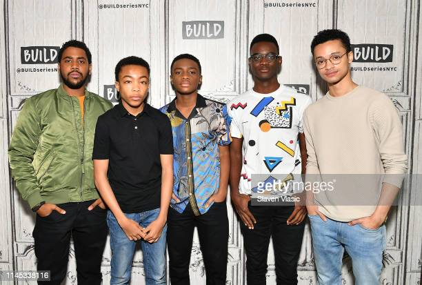 Cast members Jharrel Jerome Asante Blackk Caleel Harris Ethan Herisse and Marquis Rodriguez visit Build Series to discuss Netflix's drama miniseries...