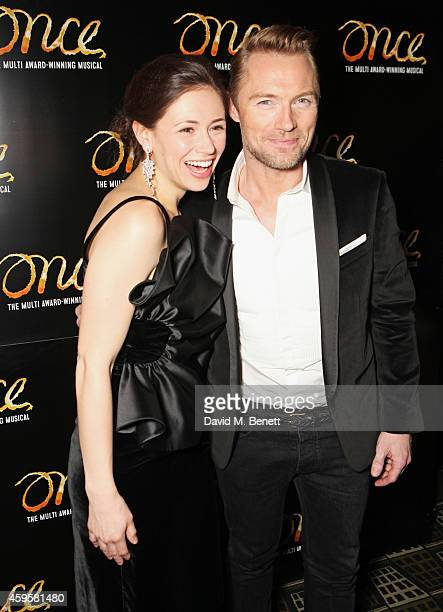 Cast members Jill Winternitz and Ronan Keating attend an after party following the press night performance of 'Once' as Ronan Keating joins the cast...