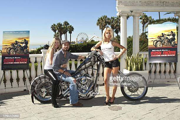 Cast members Jodie Fisher Thomas Blankenship and Brittney Shelstad pose at American Film Market's 'Easy Rider The Ride Back' at the Loews Santa...