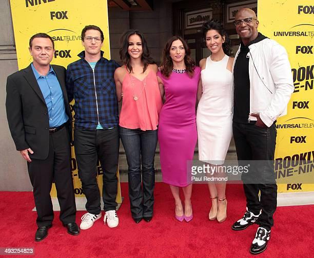 Cast members Joe Lo Truglio Andy Samberg Melissa Fumero Chelsea Peretti Stephanie Beatriz and Terry Crews attend Brooklyn NineNine FYC Special...
