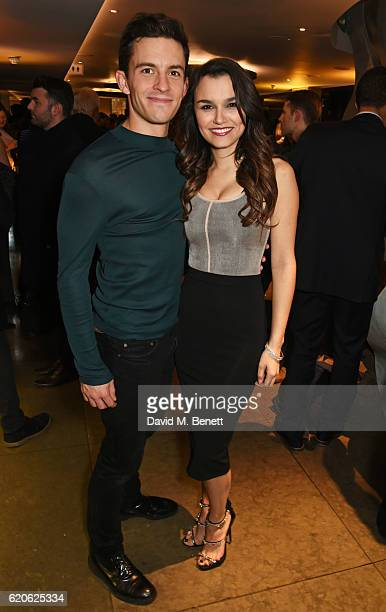 Cast members Jonathan Bailey and Samantha Barks attend the press night performance of The Last Five Years at the St James Theatre on November 2 2016...