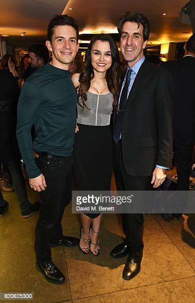 Cast members Jonathan Bailey Samantha Barks and writer/director Jason Robert Brown attend the press night performance of The Last Five Years at the...