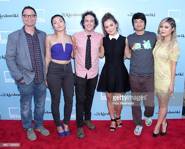 Cast members Joshua Malina Sam Aotaki Ryan Malgarini Haley Lu Richardson Osric Chau and Jessica Lu attend the screening of Mance Media's 'The Young...
