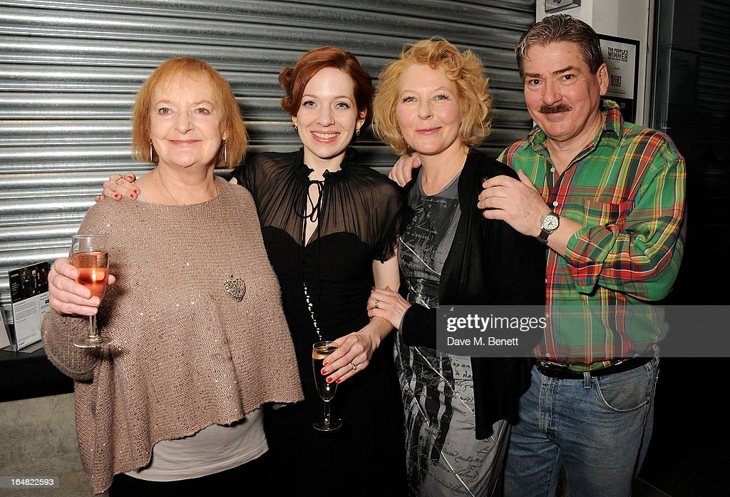 Cast members June Watson, Katherine Parkinson, Stella Gonet and Michael Thomas attend an after party following the press night performance of 'Before The Party' at the Almeida Theatre on March 28, 2013 in London, England.