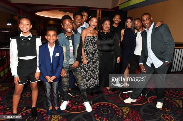 Cast members Kai N Ture TJ Wright Lamar Johnson Karan Kendrick Amandla Stenberg Angie Thomas Bobby Sessions Regina Hall Algee Smith and George...