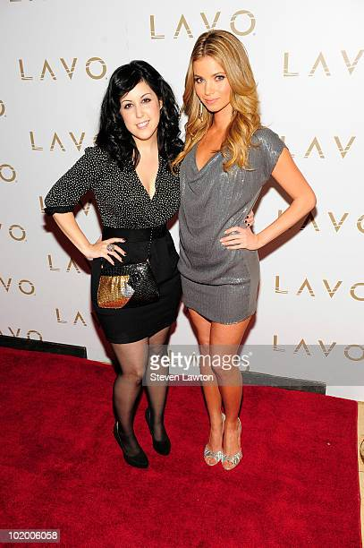 Cast members Kara Taiz and Amber Lancaster arrive to celebrate their new MTV series 'The Hard Times of RJ Berger' at Lavo on June 11 2010 in Las...