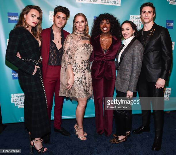 Cast Members Kathryn Gallagher Antonio Cipriano Elizabeth Stanley Celia Rose Gooding Lauren Patten and Derek Klena attend the after party for the...