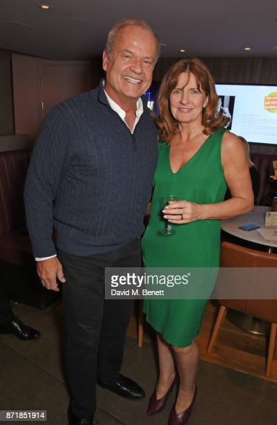 Cast members Kelsey Grammer and Clare Burt attend the press night after party for 'Big Fish The Musical' at The Other Palace on November 8 2017 in...