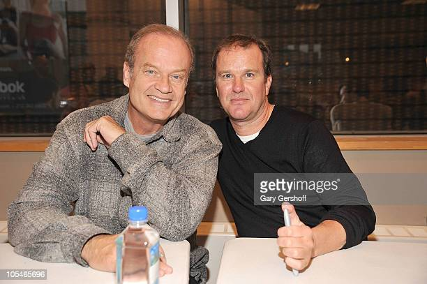 Cast members Kelsey Grammer and Douglas Hodge promote La Cage Aux Folles New Broadway Cast Recording at Barnes Noble Lincoln Triangle on October 14...