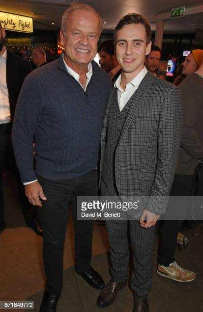 Cast members Kelsey Grammer and Jamie Muscato attend the press night after party for 'Big Fish The Musical' at The Other Palace on November 8 2017 in...