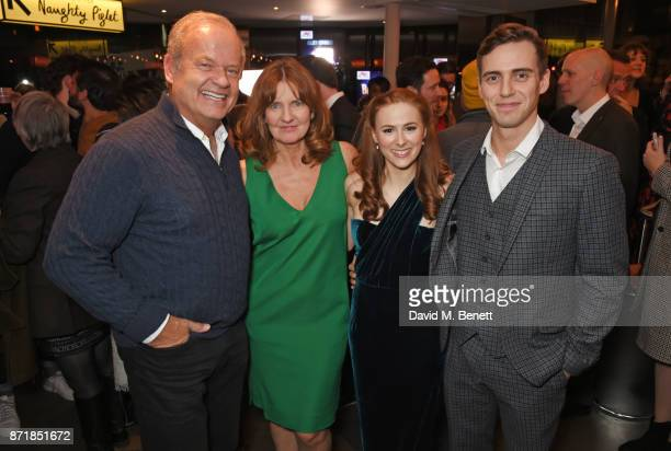 Cast members Kelsey Grammer Clare Burt Laura Baldwin and Jamie Muscato attend the press night after party for 'Big Fish The Musical' at The Other...