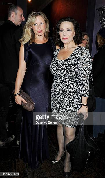 Cast members Kim Medcalf and Harriet Thorpe attend an after party following Press Night of 'Crazy For You' at Jewel Covent Garden on October 17 2011...
