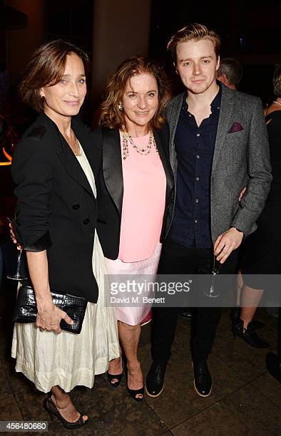 Cast members Kristin Scott Thomas Diana Quick and Jack Lowden attend an after party following the press night performance of 'Electra' playing at The...