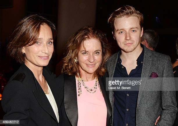 Cast members Kristin Scott Thomas Diana Quick and Jack Lowden attend an after party following the press night performance of Electra playing at The...