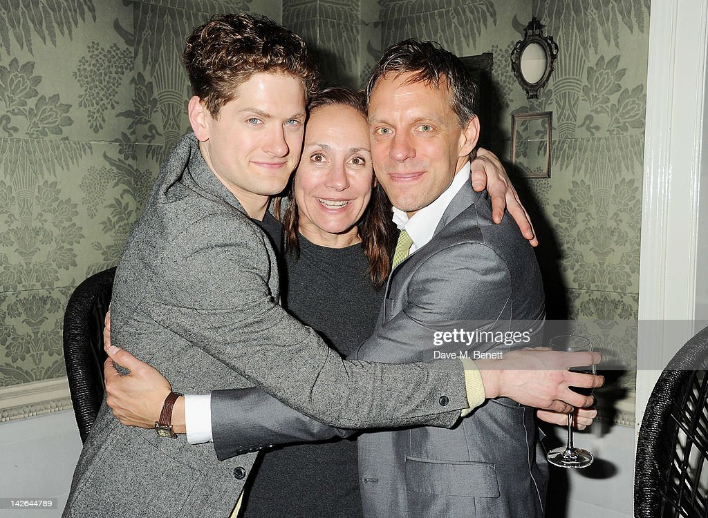 Cast members Kyle Soller, Laurie Metcalf and Trevor White attend an after party celebrating the press night performance of 'Long Day's Journey Into Night', playing at The Apollo Theatre, at Kettner's on April 10, 2012 in London, England.