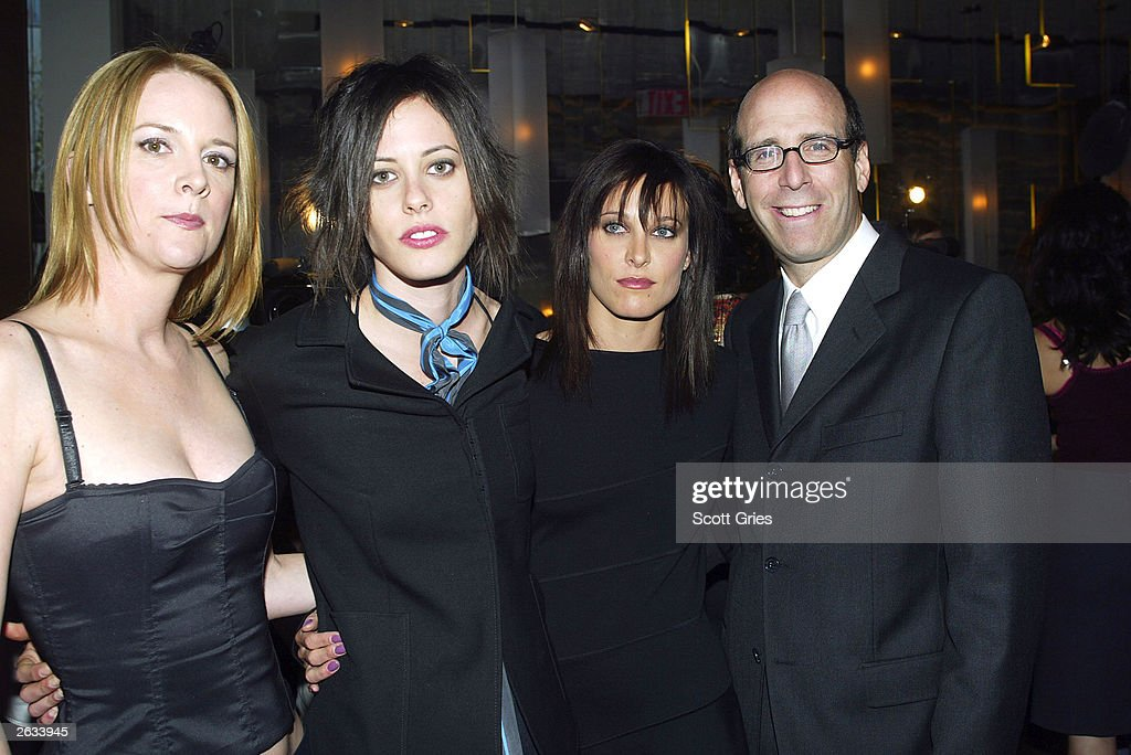 Cast members Laurel Holloman, Katherine Moennig, Erin Daniels, and Chairman and CEO of Showtime Matthew Blank at a preview luncheon for Showtime's new original series 'The L Word' at Blue Fin October 23, 2003 in New York City.