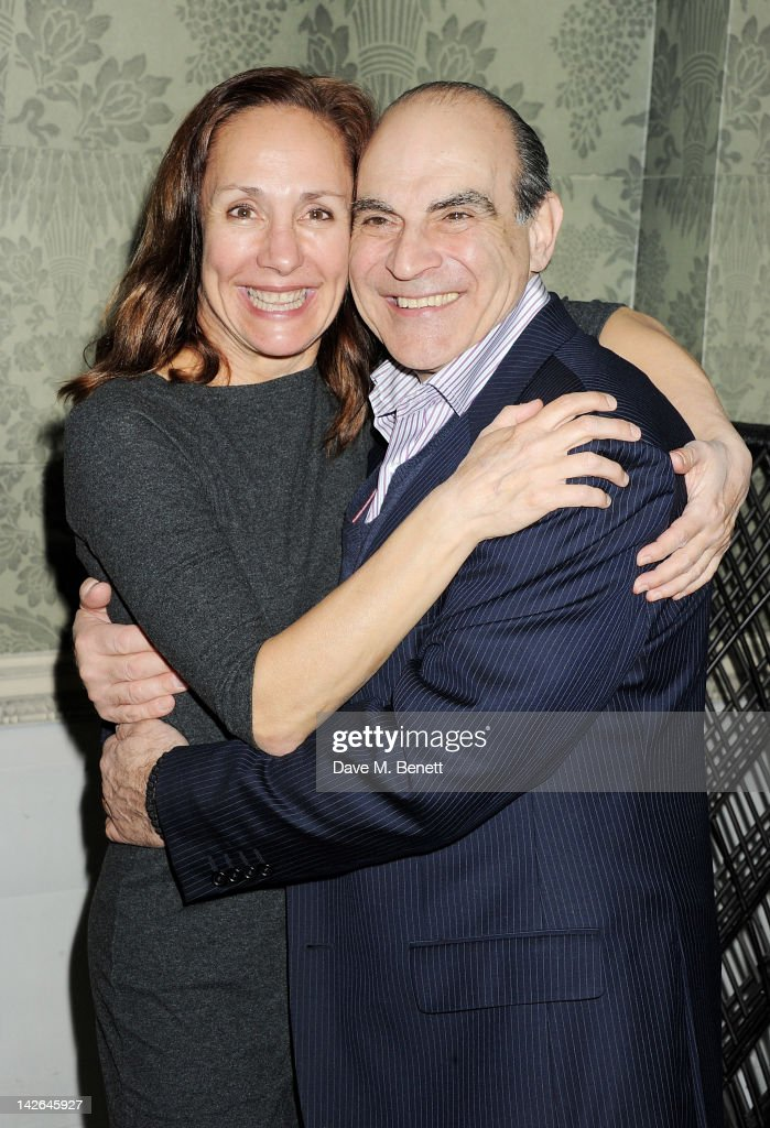 Cast members Laurie Metcalf (L) and David Suchet attend an after party celebrating the press night performance of 'Long Day's Journey Into Night', playing at The Apollo Theatre, at Kettner's on April 10, 2012 in London, England.