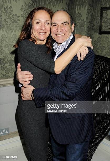 Cast members Laurie Metcalf and David Suchet attend an after party celebrating the press night performance of 'Long Day's Journey Into Night' playing...