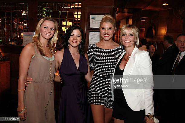 Cast members Leslie Donna Flesner Sara Edwards Amanda KlootsLarsen and Jenifer Foote pose during the party for the opening night performance of...