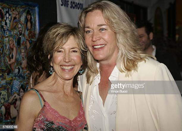 Cast members Lin Shaye and Diane Delano attend the Los Angeles premiere of the comedy film Surf School on May 16 2006 at the Crest Theatre in...