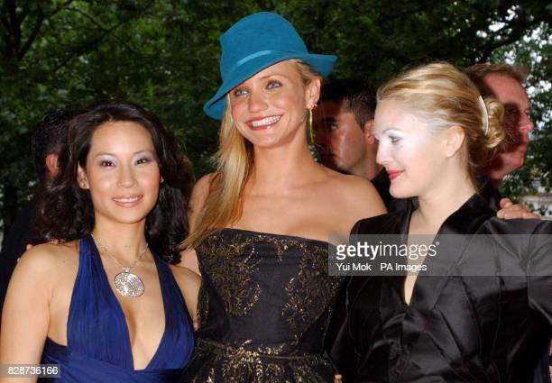 Cast members Lucy Liu , Cameron Diaz and Drew Barrymore arriving at The Odeon Leicester Square, London, for the UK premiere of Charlie's Angels: Full...
