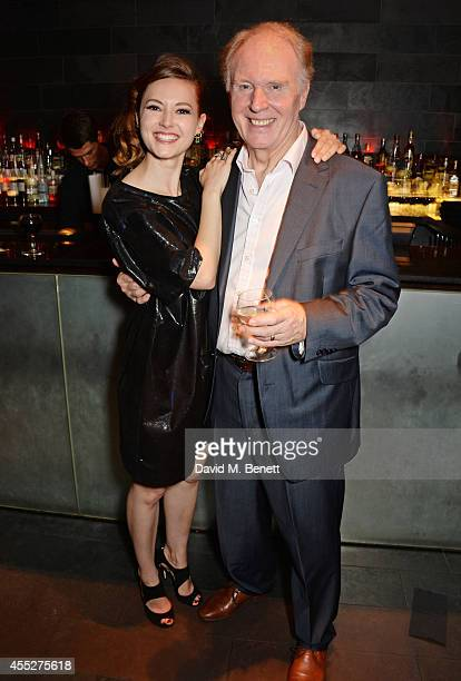 Cast members Lydia Wilson and Tim PigottSmith attend an after party celebrating the press night performance of King Charles III at Mint Leaf...
