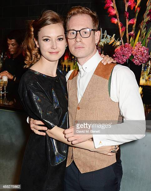 Cast members Lydia Wilson and Tom Robertson attend an after party celebrating the press night performance of King Charles III at Mint Leaf Restaurant...