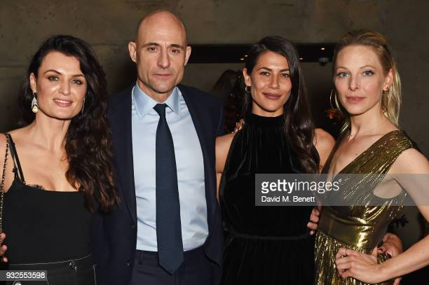 Cast members Lyne Renee Mark Strong Karima McAdams and Anastasia Griffith attend an after party following the Global Premiere of Deep State the new...
