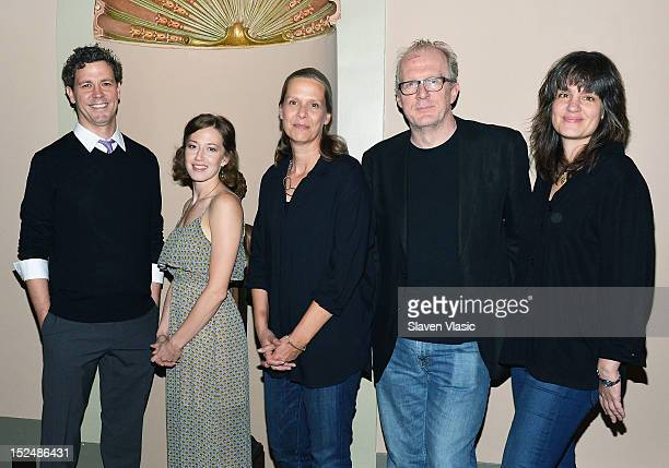 Cast members Madison Dirks Carrie Coon Amy Morton Tracy Letts and director Pam MacKinnon attend 'Who's Afraid Of Virginia Woolf' Press Day at Booth...